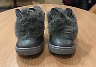 Ботинки для девочки серые Милые Зайки