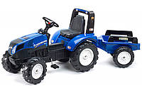 Дитячий педальний трактор Falk 3090B New Holland T8 з причепом