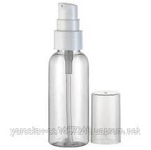 Бутылочка, флакон прозрачный с дозатором 100 мл.