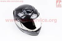 """Шлем закрытый с откидным подбородком+очки HF-119 XL- """"КАРБОН"""""""