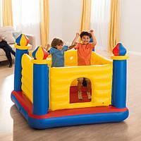 Intex 48259 (175-175-135 см.) Детский надувной игровой центр-батут Замок Castle Bouncer