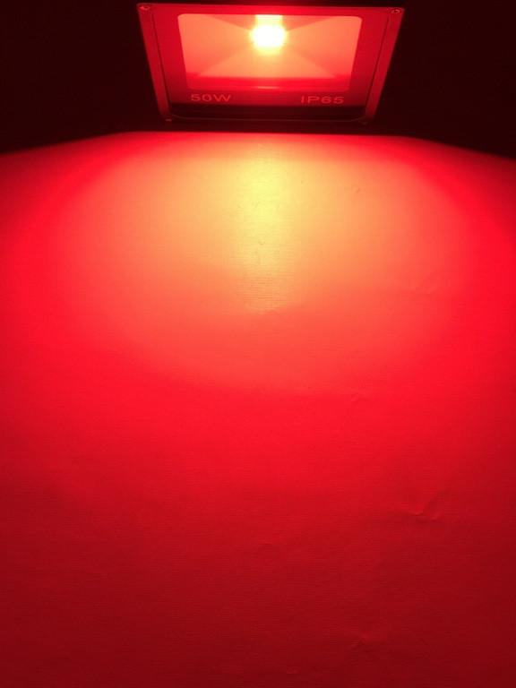 Светодиодный прожектор SL-50 50W красный IP65 Код.59204