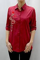 Женская удлиненная рубашка с вышивкой