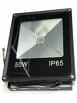 Светодиодный прожектор SL-50 50W зеленый IP65 Код.59205, фото 3