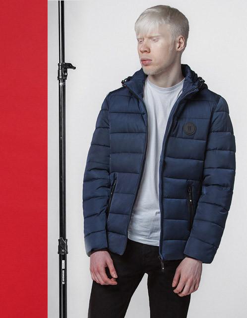 Куртка мужская весенняя 4726 синяя
