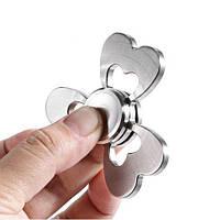Спиннеры-вертушки в форме клевера из нержавеющей стали для снятия стресса игрушка для снятия напряжения