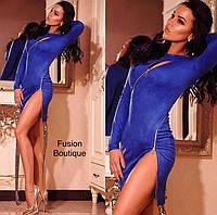 Платье короткое замшевое в расцветках 24080