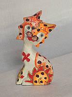 Статуэтка кошка деревянная высота 17 см