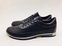 Мужские кроссовки POLO черные *крейзи* (лицевые)