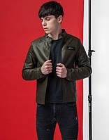 Мужская куртка весна-осень 3316 хаки