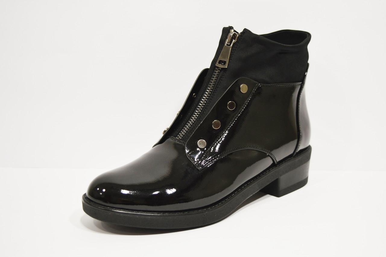 Ботинки лаковые черные Fabio Monelli