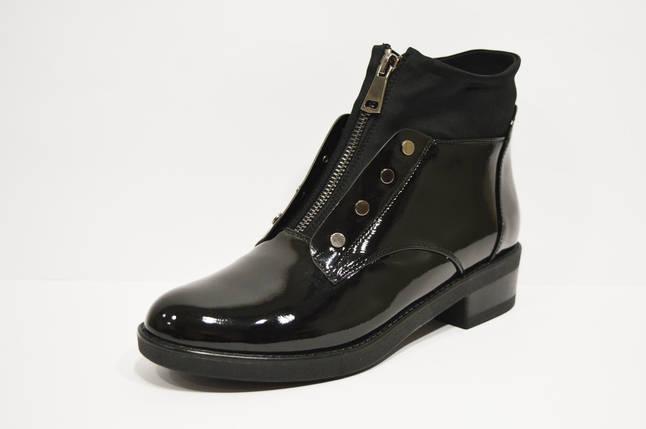 Ботинки лаковые черные Fabio Monelli, фото 2