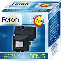 Датчик движения Feron SEN15 300W-1200W DD=10m чер