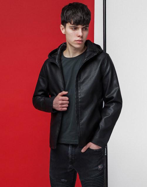 Мужская весенняя куртка 3341 черная
