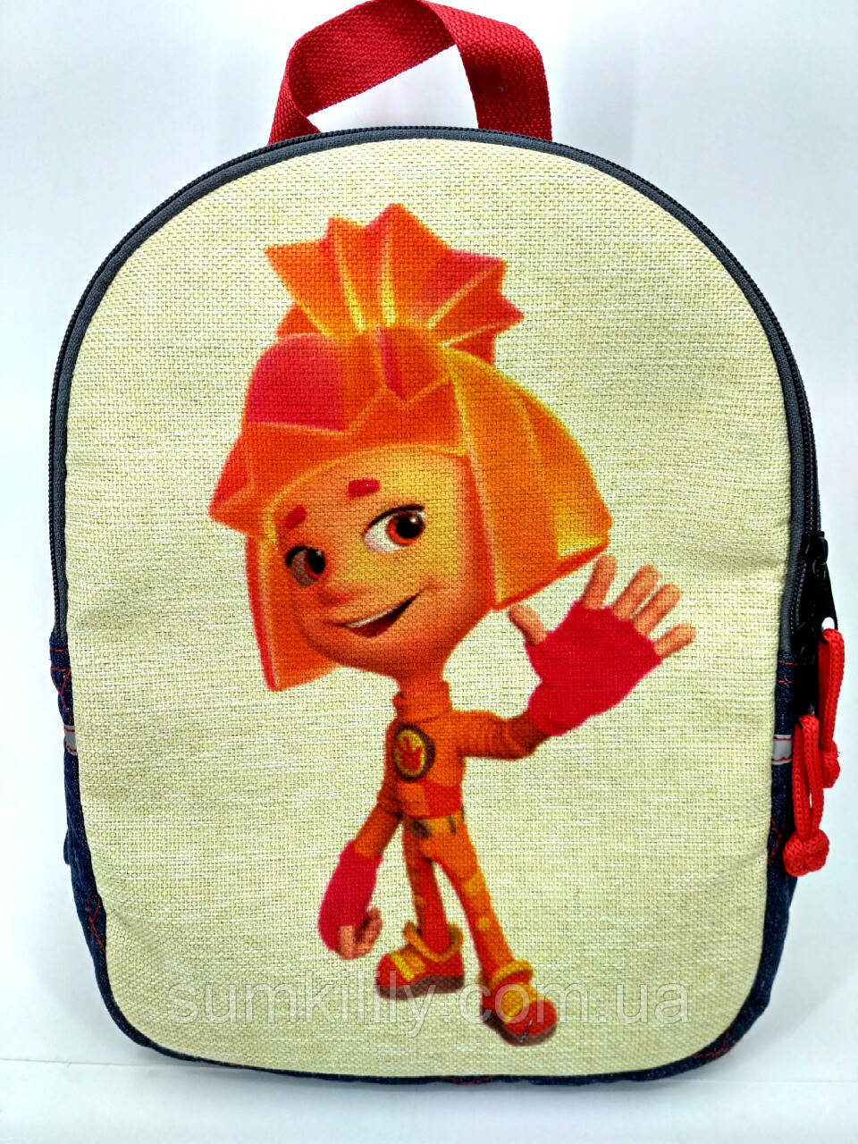 Детский джинсовый рюкзак Симка