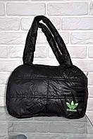 Спортивная сумка Adidas модель Пуховик. (Черный+салатный). Лучшие цены!!!