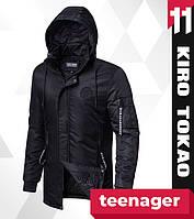 11 Kiro Tоkao | Японская подростковая парка модная осень-весна 66205-1 черный