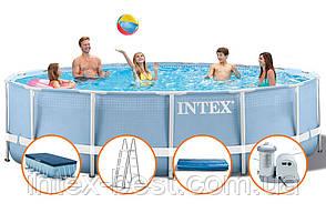 Intex 26752 - круглый каркасный бассейн Prism Frame 549х122 см, фото 2