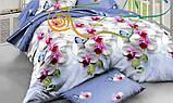 """Комплект постельного белья ТМ """"Ловец снов"""", Орхидея голубая (бязь), фото 4"""