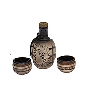 """Коньячный набор """"Лимонка"""" и 2 чашки. Славянская керамика. Посуда керамическая. Сувениры, керамика."""
