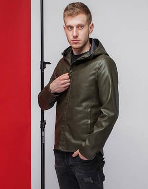 Куртка мужская демисезонная 3341 хаки, фото 2