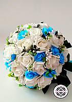 Свадебный букет в бирюзовом цвете.