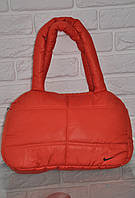 Спортивная сумка Nike модель Пуховик. (Оранжевый+Черный). Лучшие цены!!!