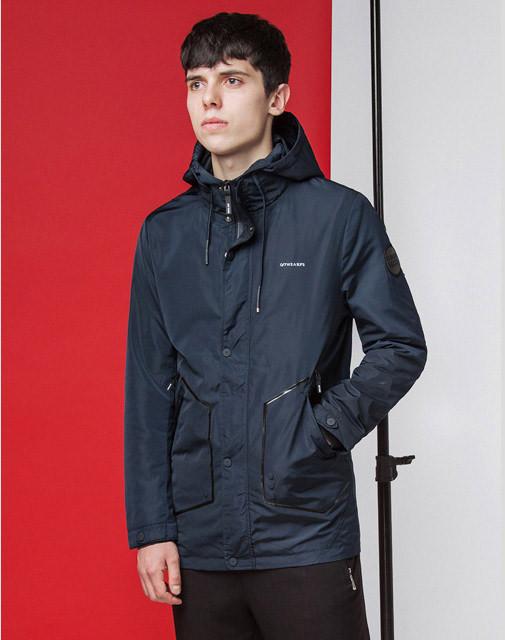 Мужская куртка весенне-осенняя 9952 темно-синяя
