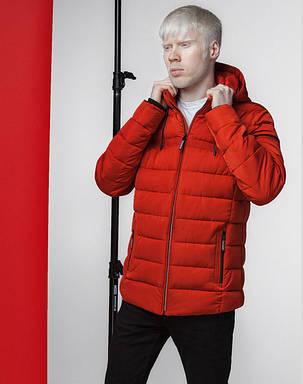 Мужская японская весенне-осенняя куртка 4541 красно-оранжевая, фото 2
