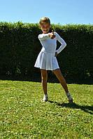 Купальник гимнастический с юбкой-солнце