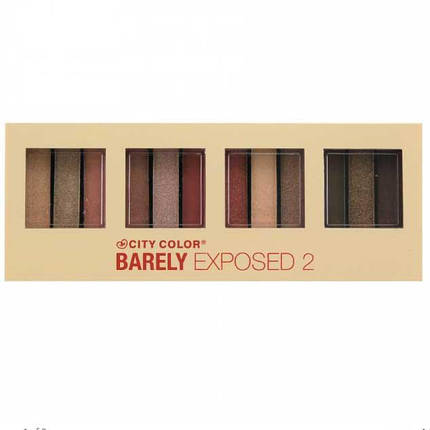 Палитра нейтральных теней City Color Barely Exposed 2 Eyeshadow, фото 2