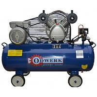 Компрессор Odwerk TW-2270 ременной двухцилиндровый (2,2 кВт, 250 л/мин, 70 л)
