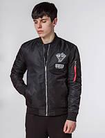 Черная мужская демисезонная куртка KIRO TOKAO (р. 46-56) арт. 306R