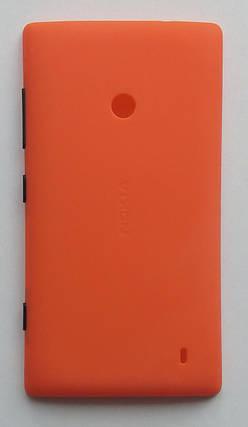 Задня кришка  Nokia 520 Lumia, 525 Lumia RM-914 з боковими кнопками (оранж), фото 2
