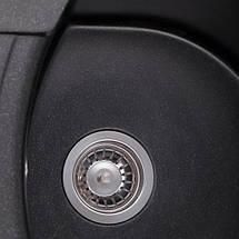 Черная мойка из искусственного камня с евросифоном 61*47 см Granado  Malaga Black Shine 0201, фото 3