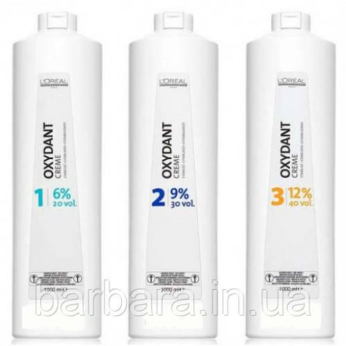 Косметический крем пероксид L'Oreal Professionnel Oxydant 1000 мл