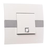 Выключатель одинарный Eco Mono Electric белый без вставки