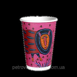 Стакан Паперовий 340 мл. Prima Maria 50шт (35/1750) (КB-80)Рожевий