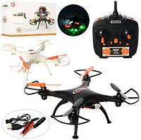 Квадрокоптер XS802B (Черный) р/у,аккум,свет,USBзарядн,запас лопасти