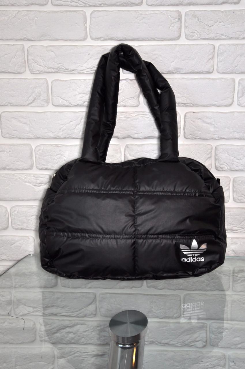 9a2e8da95b15 Спортивная сумка Adidas модель Пуховик. (Черный+серебро). Лучшие цены!!!