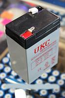 Аккумулятор(АКБ) UKC 6 вольт 4,5 А/ч.Для весов,радио.