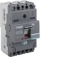 Автоматический выключатель x160, In=63А, 3п, 18kA, Тфикс./Мфикс., Hager