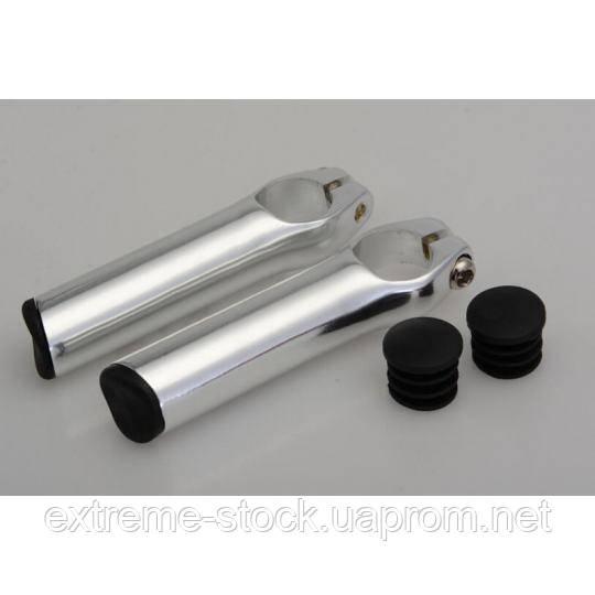Рожки RockBros 3D UltraLight Bar Ends, 85 мм, серебристые