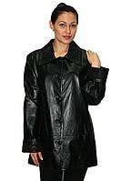 Пиджак кожаный удлиненный, большие размеры