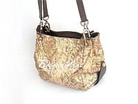 Стильная золотая сумка из итальянской кожи