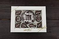 Шоколадний набор зі святом весни чорно-білий, фото 1