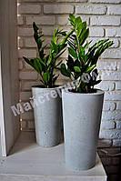 Напольная бетонная ваза 19*34