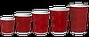 Стакан гофрований 250мл.(8oz) (25/20/500) (кв79) Червоний, фото 2