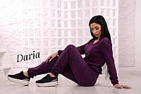 Вязаный легкий костюм из турецкой пряжи с вставками на рукавах, женские вязаные костюмы оптом