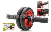 Zelart Колесо для пресса двойное с тормозным устройством PS DB-703 |черн/красн